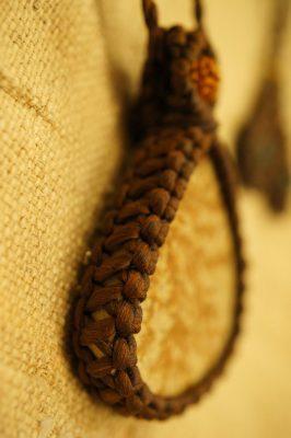 マクラメ編みデンドライトネックレス