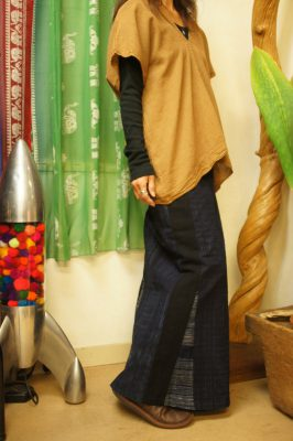 モン族バティックマーメイドラップスカート