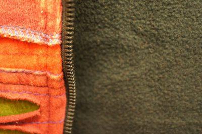 カラフルパッチワークジップアップジャケット