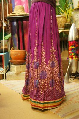 India☆ボヘミアンマキシ丈スカート