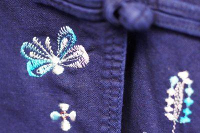 インディゴ染めモーホーム刺繍ジャケット