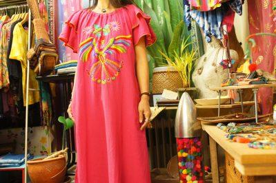 カラフルハンド刺繍メキシカンワンピース