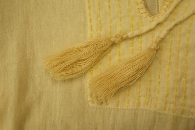 ハンド刺繍ナチュラルワンピース