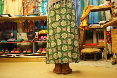エスニックプリント2Wayスカート