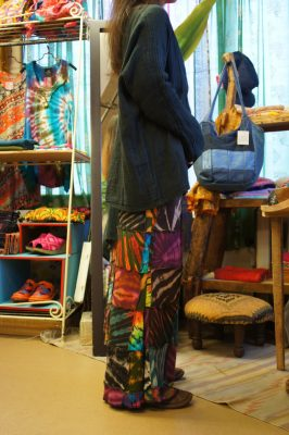 タイダイパッチワークマーメイドスカート