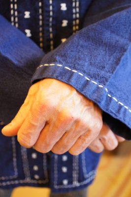 モーホームインディゴハンドステッチジャケット