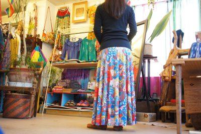 ボヘミアンロングスカート