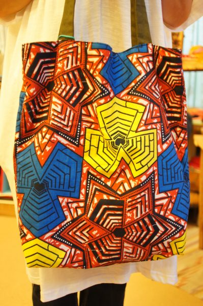 アフリカンプリントトートバッグ