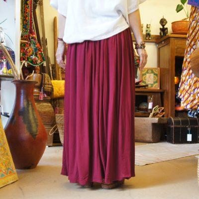 プレーンカラーパンツスカート