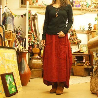 ダブルガーゼふっくらスカート