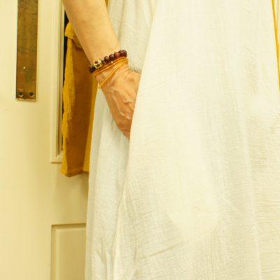 コットン刺繡チュニックワンピ